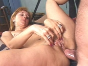 Milf gobbling on cock before fierce anal