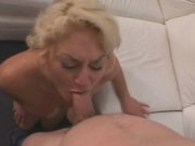 filthy milf sucks and get fucked hardly on sofa